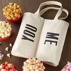 You & Me Dual Compartment Tote Bag with Sweets and Popcorn