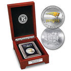 New England Patriots Silver Dollar Coin with Tamper-Proof Holder