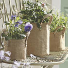 Set of 3 Burlap Plant Holders