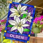 Lilies Personalized House Flag