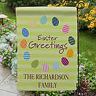 Personalized Easter Egg Garden Flag