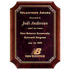 Solid American Walnut Personalized Award