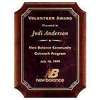 Solid American Walnut Personalized Award