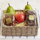 Simply Fresh Fruit, Pretzels, and Nuts with Personalized Ribbon