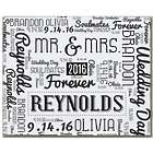 Wedding Word-Art 11x14 Canvas Print