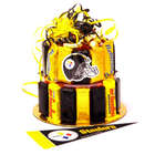 Pittsburgh Steeler's Fan Candy Bar Cake