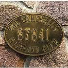 Hawthorne Oval House Number Wall Plaque