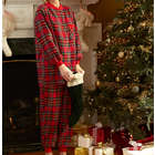 Womens Carole Flannel Ski Pajamas