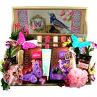 Deluxe Spa and Sweets Gift Basket with Vanity Tray