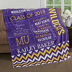 Graduate's Personalized School Memories Fleece Blanket