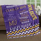 Graduate's Personalized School Memories Fleece Blanket