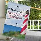 Summer Lighthouse Personalized Flag