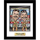 Firefighter's Custom Caricature Art Print