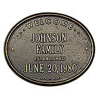 Personalized Family Name Plaque with Date