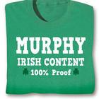 Personalized 100 Irish Content Shirt