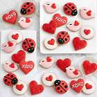 30 Hand-Decorated Mini Valentine's Day Cookies Gift Box