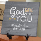God Gave Me You Personalized Canvas Print