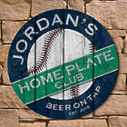 Personalized Home Plate Club Baseball Fan Wall Sign