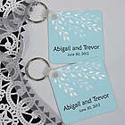 Personalized Leaves of Love Keychain Wedding Favor