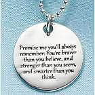 Sterling Silver Promise Me Necklace