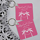 Personalized Palm Tree Keychain Wedding Favor
