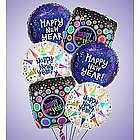 Happy New Year Mylar Balloon Arrangement