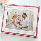 Engraved Forever and Always Pink Border Frame