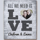 All We Need Is Love Photo Canvas