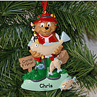 Personalized Fisherman Ornament