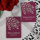 Personalized Leaves of Love Bookmark Wedding Favor