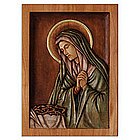 """Mary, Virgin of Sorrows"" Cedar Relief Panel"