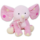 Embroidered Pink Polka Dot Elephant Stuffed Animal