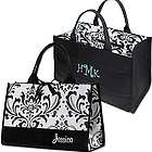 Personalized Damask Bridesmaid Tote