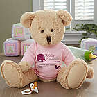 Pink New Arrival Personalized Baby Teddy Bear