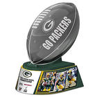 Reflections of Pride Green Bay Packers Glass Football Sculpture