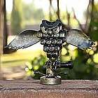 Rustic Horned Owl Iron Statuette