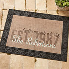 Personalized Together We Make A Family Burlap Doormat
