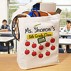 Teacher's Class Personalized Canvas Tote Bag