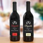 4 Personalized Wedding Wine Bottle Labels