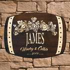 Handsome Harvest Personalized Signature Series Wine Barrel Sign