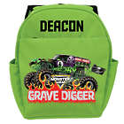 Personalized Monster Jam Grave Digger Green Backpack