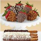Pretzels and Dipped Strawberries