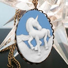 Mystical Unicorn Cameo Necklace