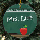 Teacher's Chalkboard Personalized Ceramic Ornament