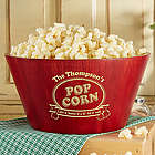 Personalized Popcorn Night Bamboo Bowl
