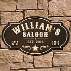 Wild West Saloon Custom Bar Sign