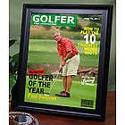 Personalized Framed Golfer Magazine Cover