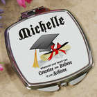 Graduation Cap Personalized Compact Mirror