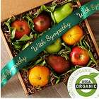 Organic Fruit Box with Sympathy Ribbon