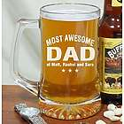 Engraved Most Awesome Parent Glass Mug